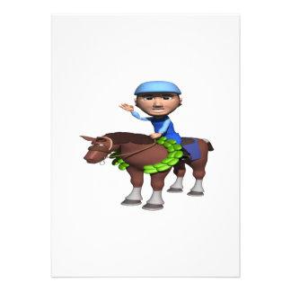 Campeão da corrida de cavalos convites personalizados