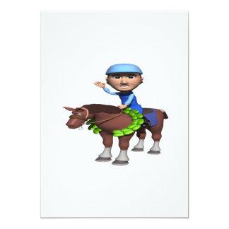 Campeão da corrida de cavalos convite 12.7 x 17.78cm