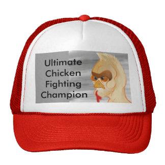 Campeão de combate da galinha final boné