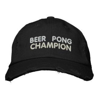 Campeão de Pong da cerveja Boné Bordado