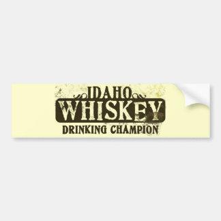 Campeão do bebendo do uísque de Idaho Adesivo Para Carro