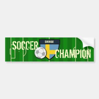 Campeão do futebol da suecia de Sverige Adesivo Para Carro