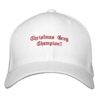 Campeão do Grog do Natal!! Boné Bordado