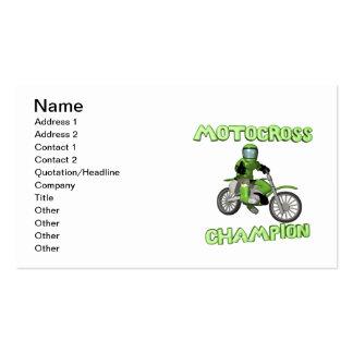 Campeão do motocross cartão de visita