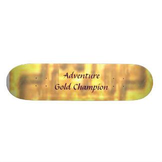 Campeão do ouro da aventura shape de skate 20,6cm