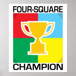 Campeão do Quatro-Quadrado Poster