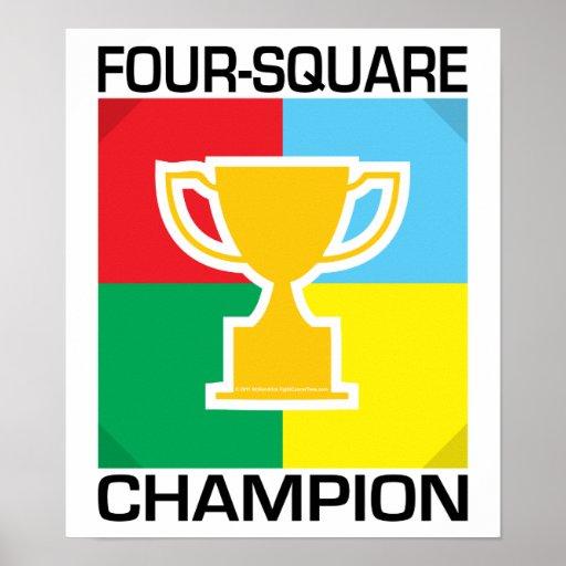 Campeão do Quatro-Quadrado Posteres
