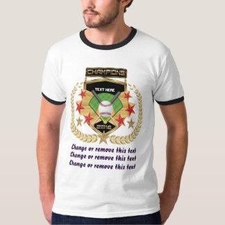 Campeão do softball Dianteiro-somente Camiseta
