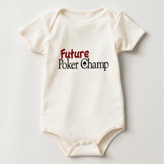 Campeão futuro do póquer body para bebê