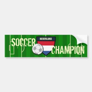 Campeão holandês do futebol de Nederland Adesivo Para Carro