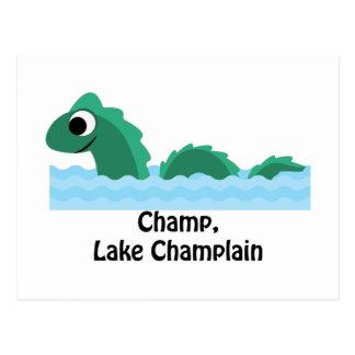 Campeão, lago Champlain Cartão Postal