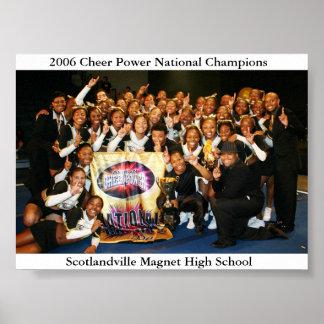 Campeões 2006 do nacional do poder do elogio pôster