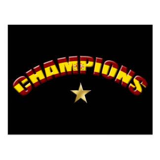 Campeões da espanha cartão postal