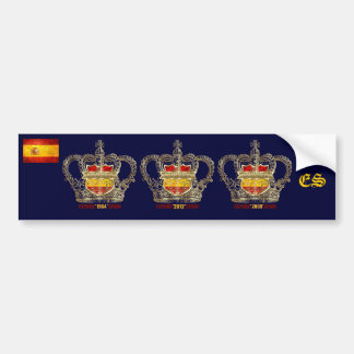 Campeões da espanha do euro de Europa 2012 reis Adesivo Para Carro