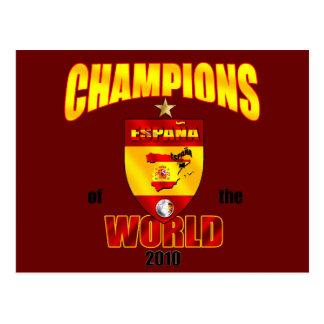 Campeões da espanha do mundo 2010 cartão postal