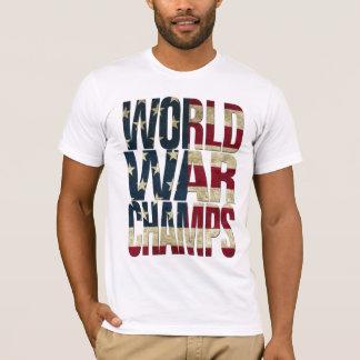 Campeões da guerra mundial - bandeira dos EUA Camiseta