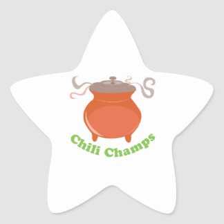 Campeões do pimentão adesivo estrela