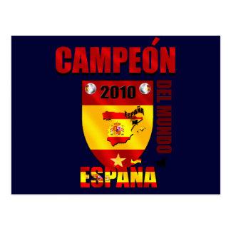 Campeón Del Mundo España Cartão Postal