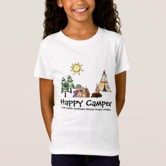 Campista feliz camiseta