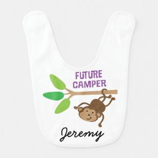 Campista futuro babador personalizado do bebê