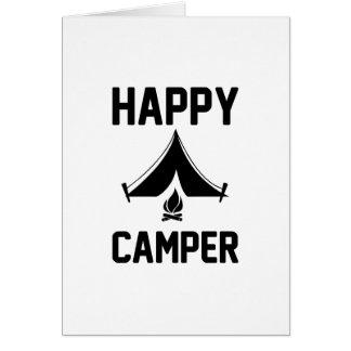Campistas felizes cartão