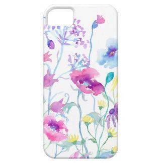 Campo da aguarela do Pastel, prado do Wildflower Capa Para iPhone 5
