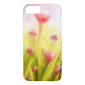 Campo da capa de telefone das flores
