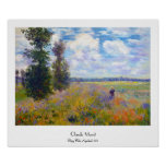 Campo da papoila, Argenteuil, Claude Monet 1875 Poster