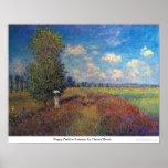 Campo da papoila no verão por Claude Monet Poster