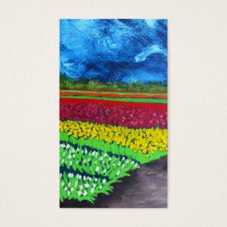 Campo da tulipa: Holland Cartão De Visitas