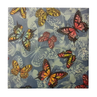 Campo das borboletas azulejo