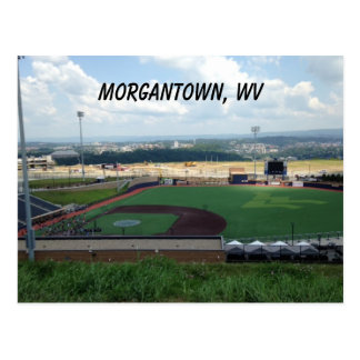 Campo de basebol perto de Morgantown, cartão de WV