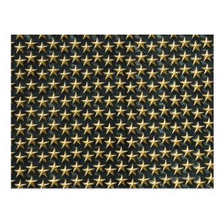Campo de estrelas do ouro no memorial da segunda cartão postal