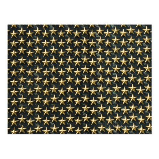 Campo de estrelas do ouro no memorial da segunda g cartao postal