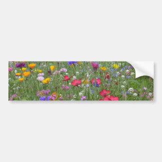Campo de flores coloridas adesivo para carro