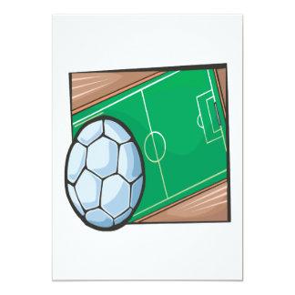 Campo de futebol convite 12.7 x 17.78cm