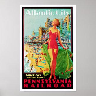 Campo de jogos do ano de América do ~ de Atlantic  Poster