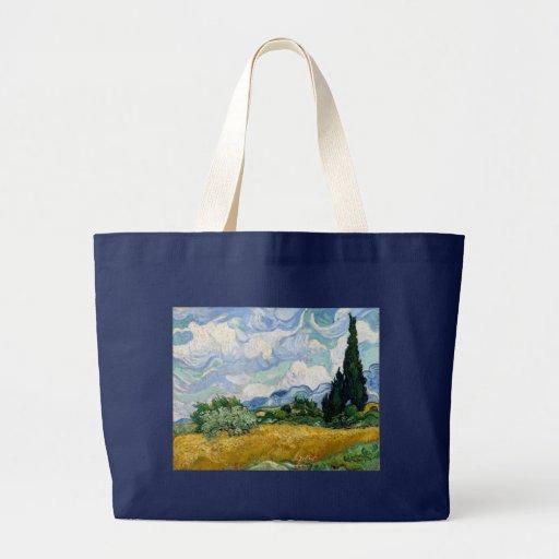 Campo de trigo com os ciprestes por Vincent van Go Bolsa Para Compra
