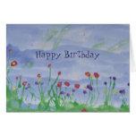 CAMPO do cartão de Flor-Aniversário
