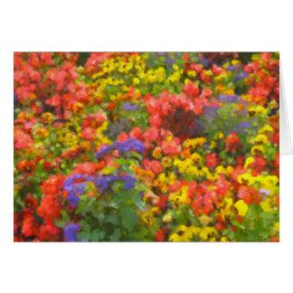 Campo do cartão de nota das flores