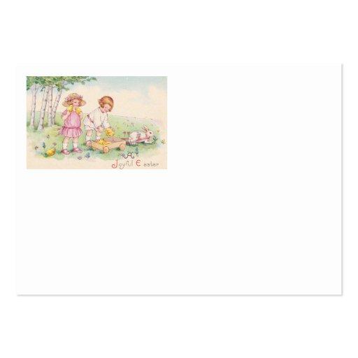 Campo do coelho do pintinho da páscoa das crianças modelos cartao de visita