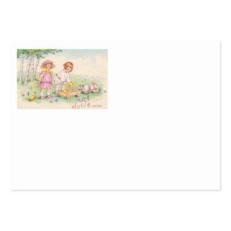 Campo do coelho do pintinho da páscoa das crianças cartão de visita grande