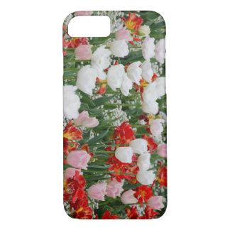 Campo do design colorido vibrante das tulipas capa iPhone 8/ 7