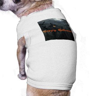 Campo do Dia das Bruxas da morte Camiseta Para Cães