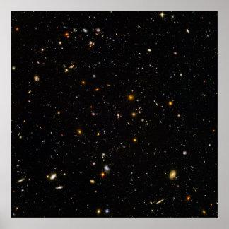 Campo do espaço ultra profundo de Hubble Pôster