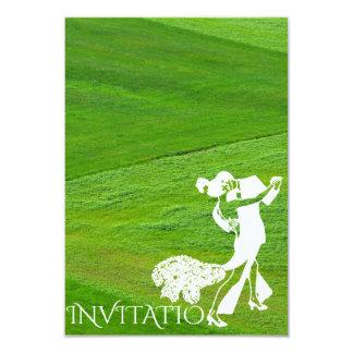 Campo verde personalizado do tango dança clássica convite 8.89 x 12.7cm
