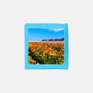Campos de flores reusáveis do saco do costume
