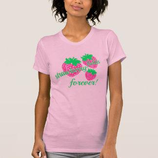 campos *strawberry para sempre camiseta