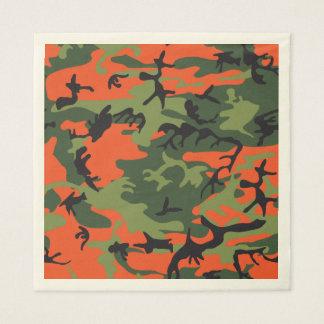 Camuflagem alaranjada verde da floresta. Camo seu Guardanapo De Papel