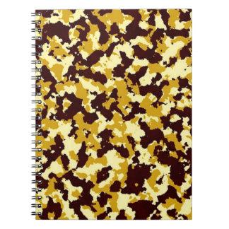 Camuflagem amarela caderno espiral